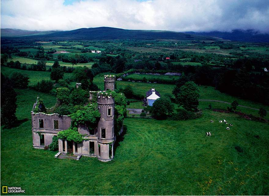 An old mansion in Ireland now overgrown