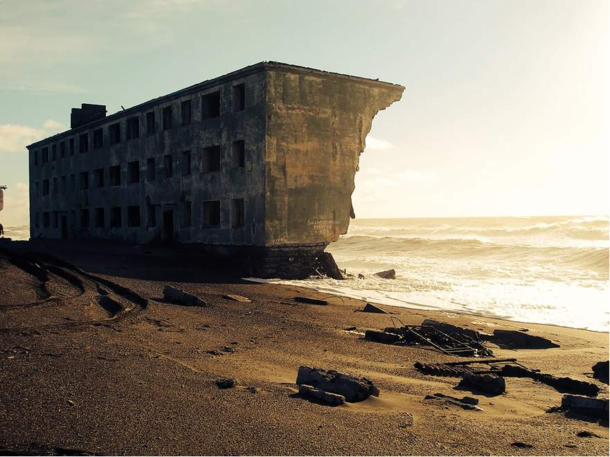 Ruins from a Fishing Town located on Kamchatka Peninsula