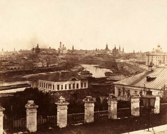 1852. A distant Kremlin is seen in this 1852 photo of Moscow, Russia