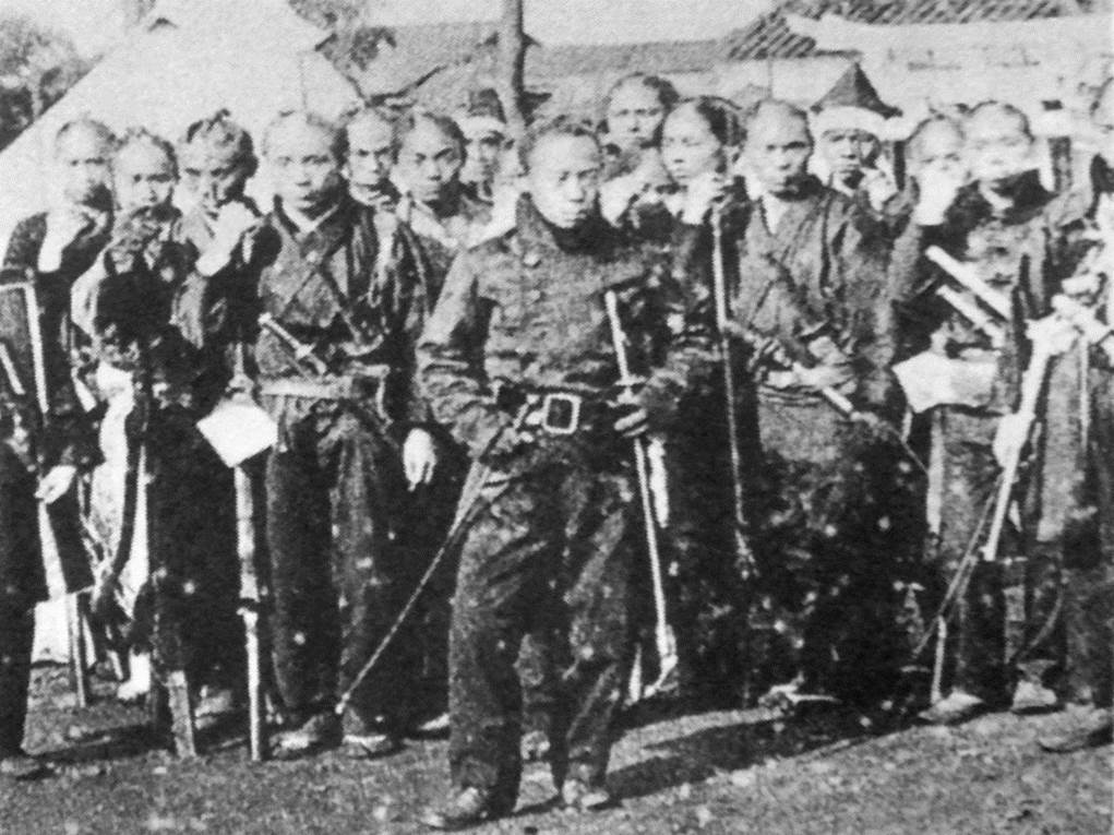 1868. Last known photo of Samurai in Japan. By then most had already cut their hair