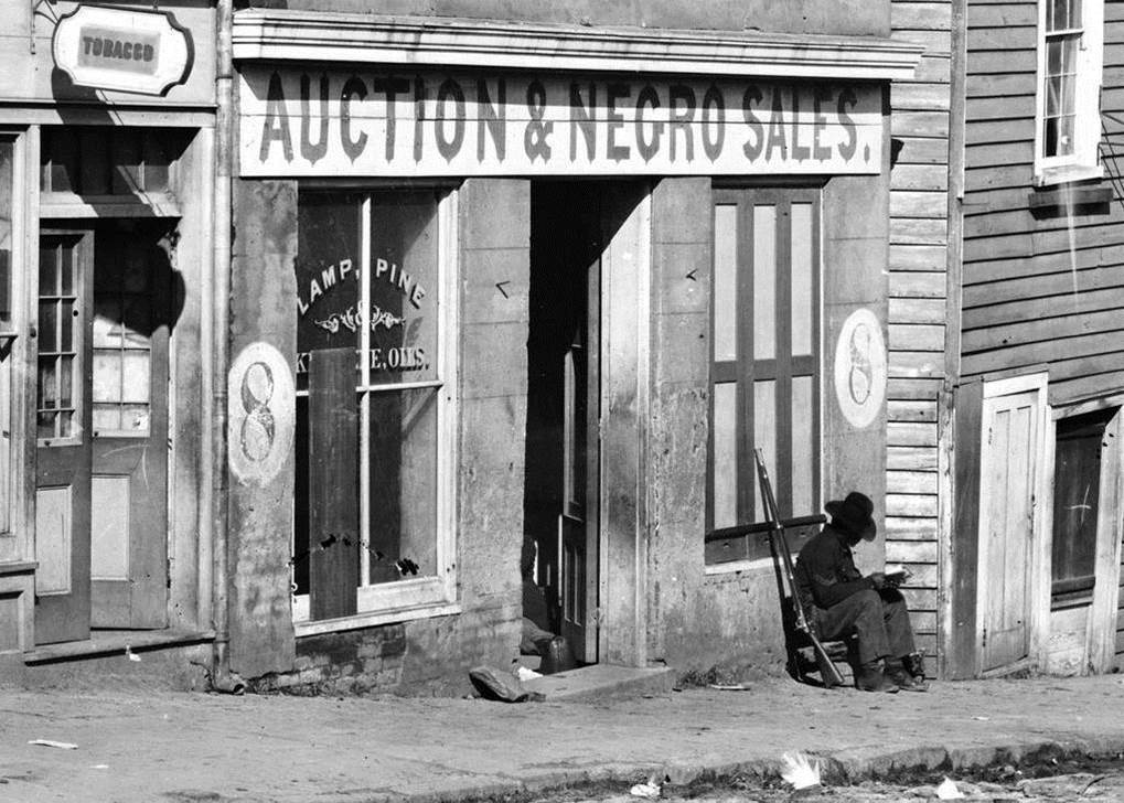 1868. Sales and auction of negro slaves