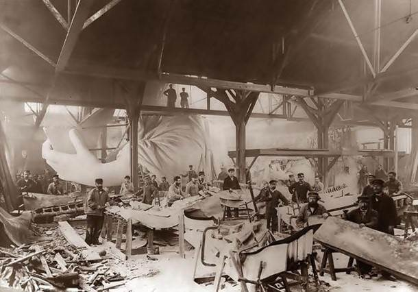 1884. The construction of the Statue of Liberty