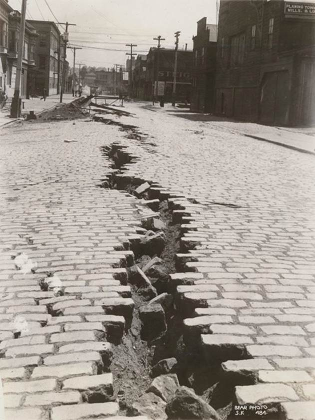 1906. Folsom Street in San Francisco after the earthquake