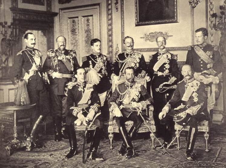 1910. Nine kings of Europe at the Windsor Castle