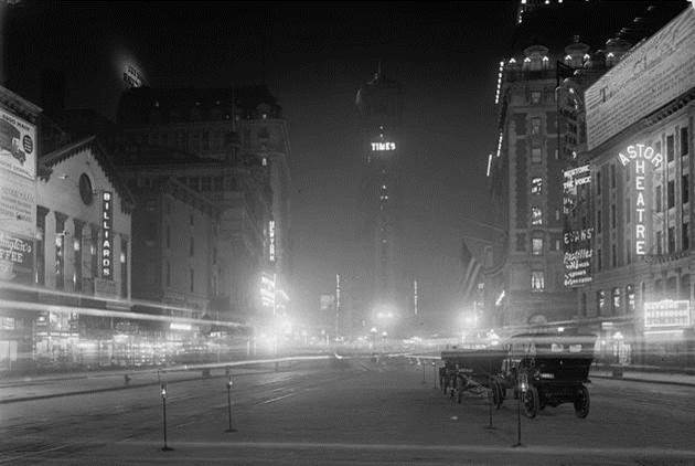 1911. Times Square in New York