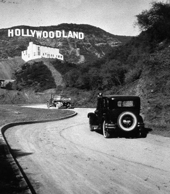 1929. The original sign of Hollywood