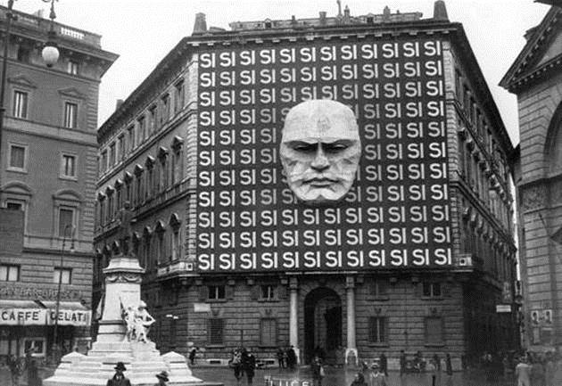 1930. The headquarters of Benito Mussolini and the Italian Fascist party – Rome