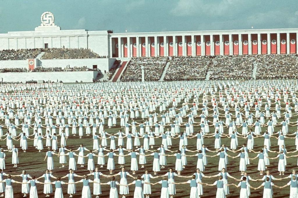 1938. League of German women dancing in Nuremberg aka Bund Deutscher Mädel in der Hitler-Jugend