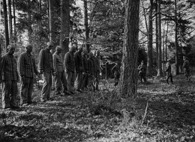 1942. Execution of Polish prisoners by the Germans