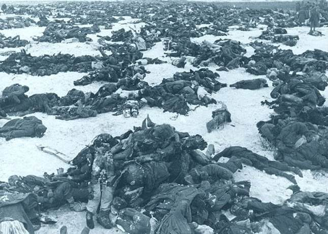 1943. Dead Nazi soldiers after the Battle of Stalingrad