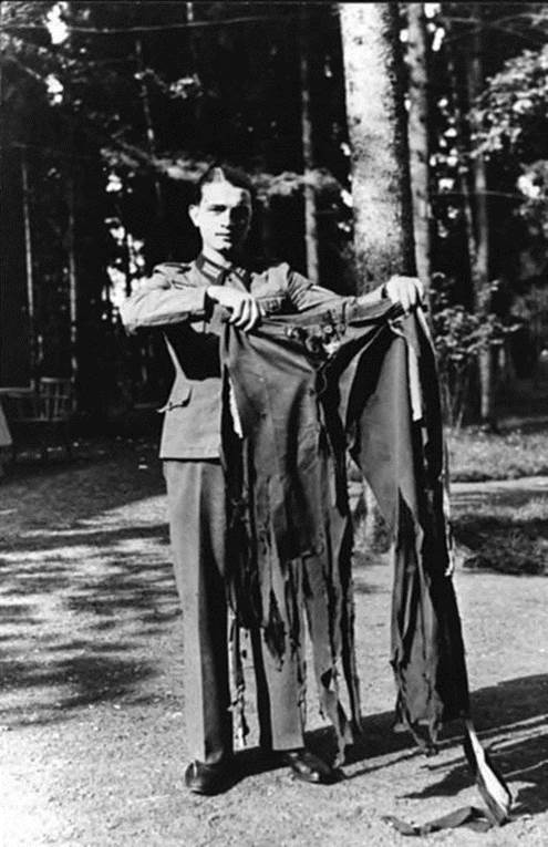 1944. Adolf Hitler's pants after the bomb plot