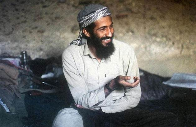 1988. Young Osama Bin Laden in a cave while fighting the invading Soviet forces. Jalalabad region, Afghanistan