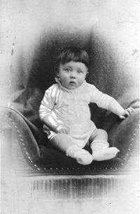 Adolf as a baby