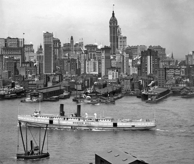Circa 1908. Manhattan, New York City