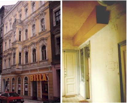 Hitler's first apartment in Vienna