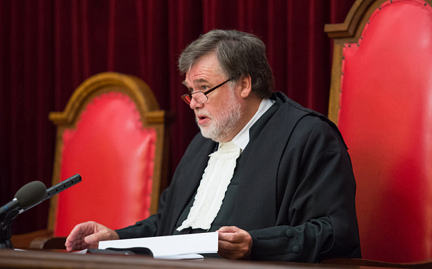 Justice Leach gives his ruling at Pretoria's High Court