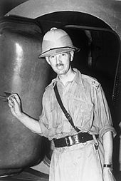 Lieutenant-General Percival arriving by aircraft in Singapore in 1941 as the new General Officer Commanding Malaya
