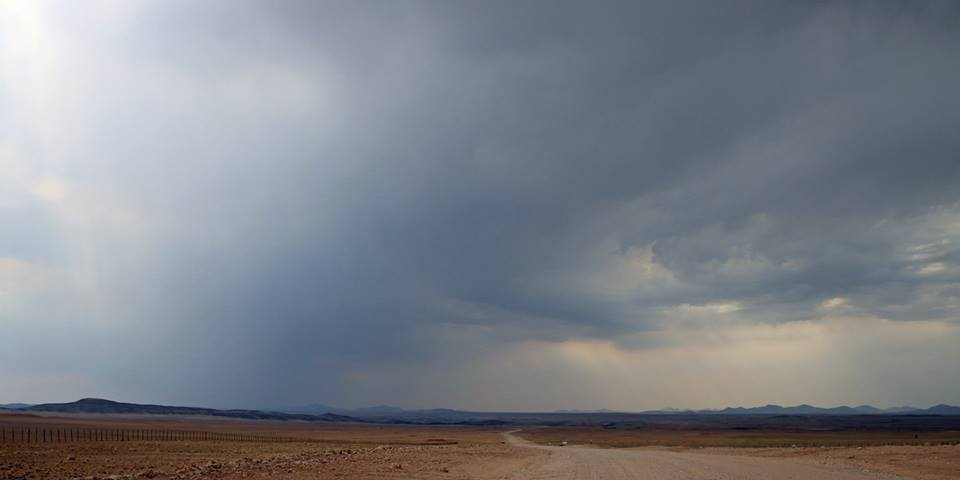 Rain over the Namib