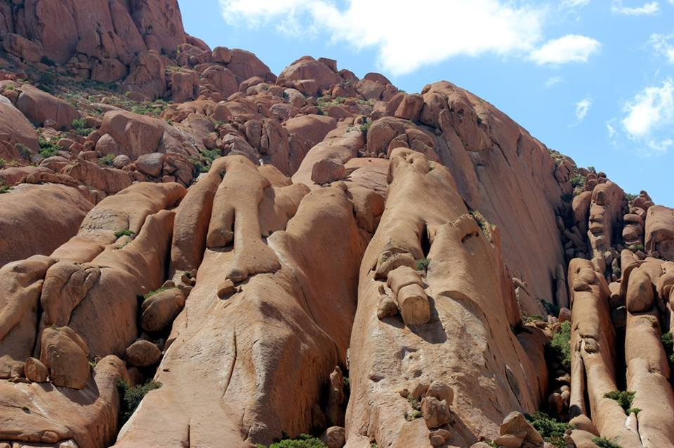 Rock formations at the Spitzkoppe