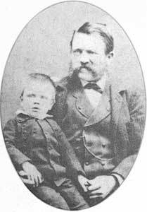 Young Adolph with Father Alois Schicklgruber (1837-1903)