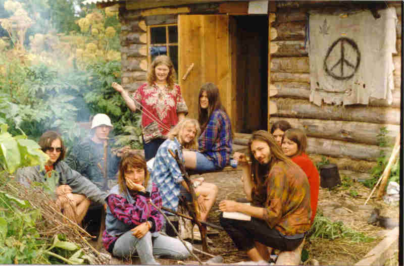Hippie commune cabin