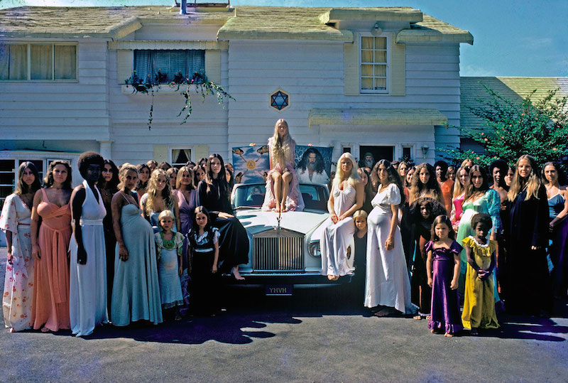 #42The women of the Source Family outside their Hollywood Hills home