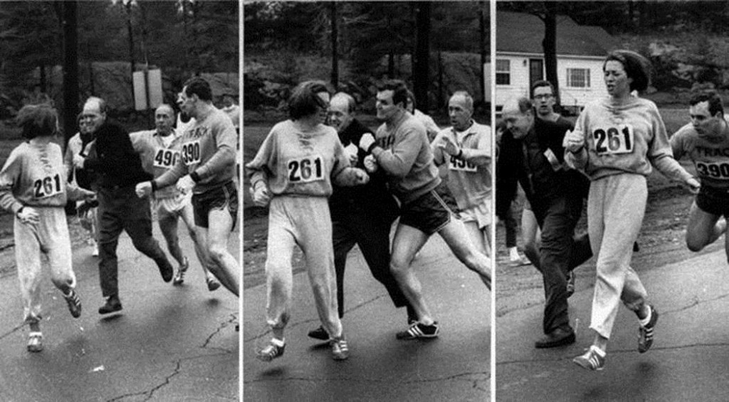 In 1967, challenging the all-male tradition of the Boston Marathon, Kathrine Switzer, at the time a headstrong 20-year-old junior at Syracuse University, entered the race.