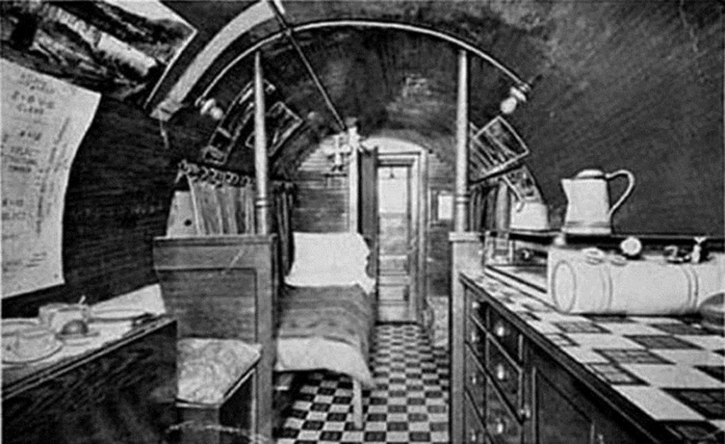 Interior of a log motor home by Wade