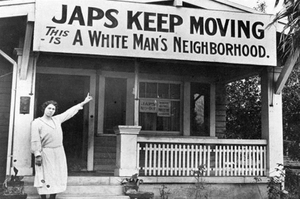 Neighbors of Japanese origin were already unwanted in some neighbourhoods in 1923