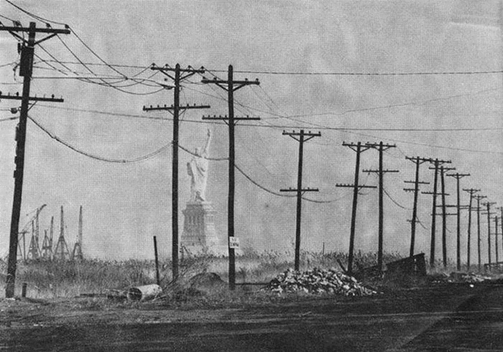 Statue of Liberty as seen from Jersey City, 1963