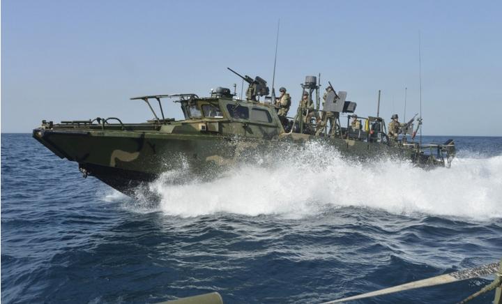 US riverine naval boat