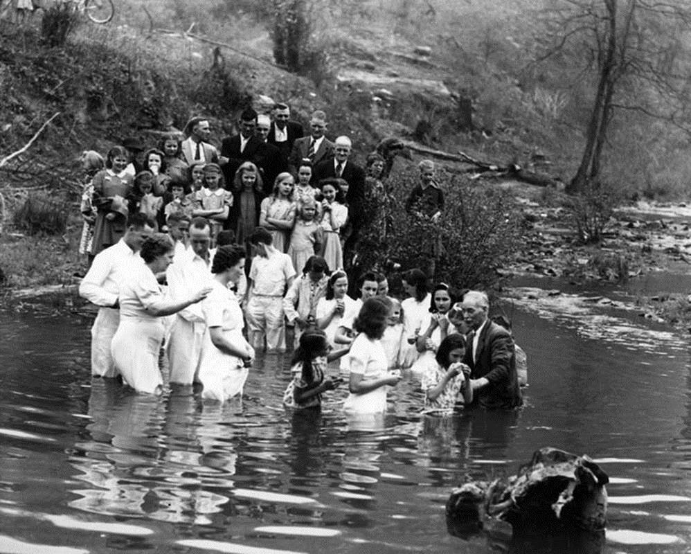 "Baptism in the river. From ""Appalachian Life"" - a photographic study"