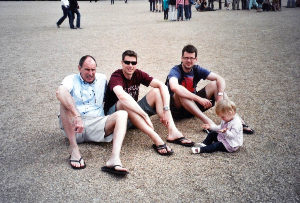 Barry, Mark, Craig and child#1