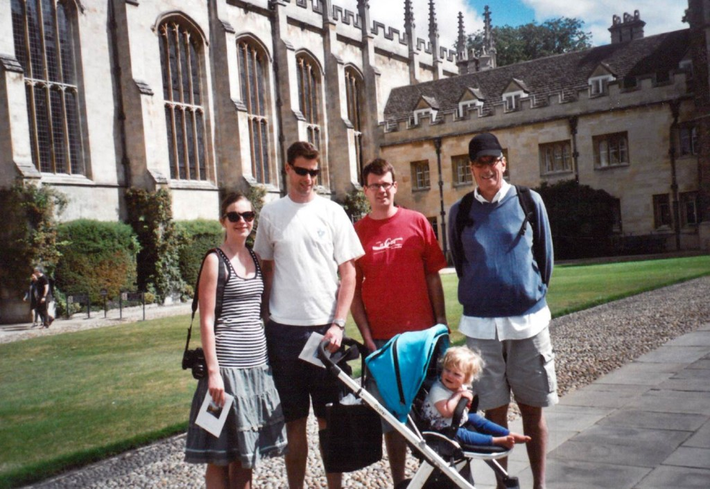 Barry, Mark, Craig, wife and child#1