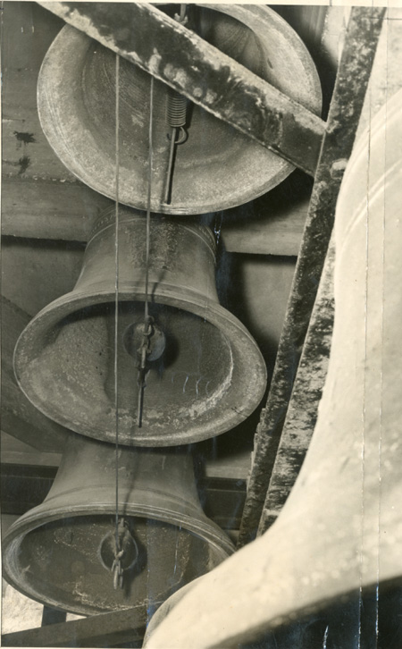 The bells in position