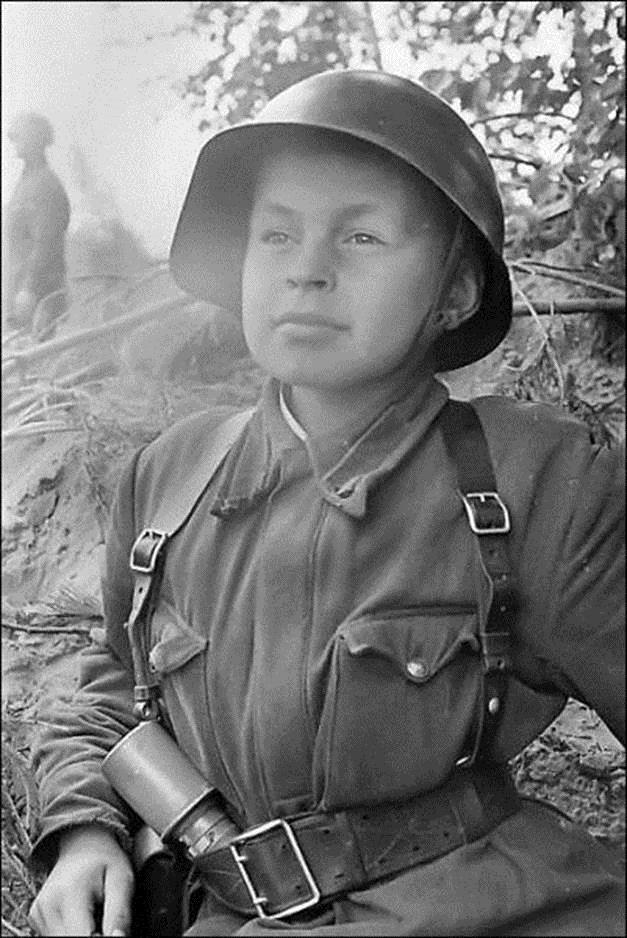Child soldier - in desperation the Nazi's used many of these children often as fodder for front line diversionary actions. These children didn't have a chance.