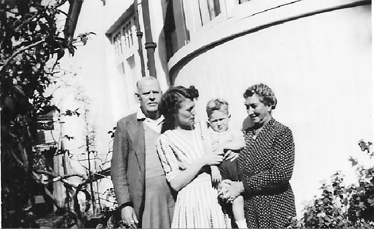 L to R - Harry St George Dix-Peek, Sylvia Sayer, Michael Sayer and Caroline Frieda Dix-Peek
