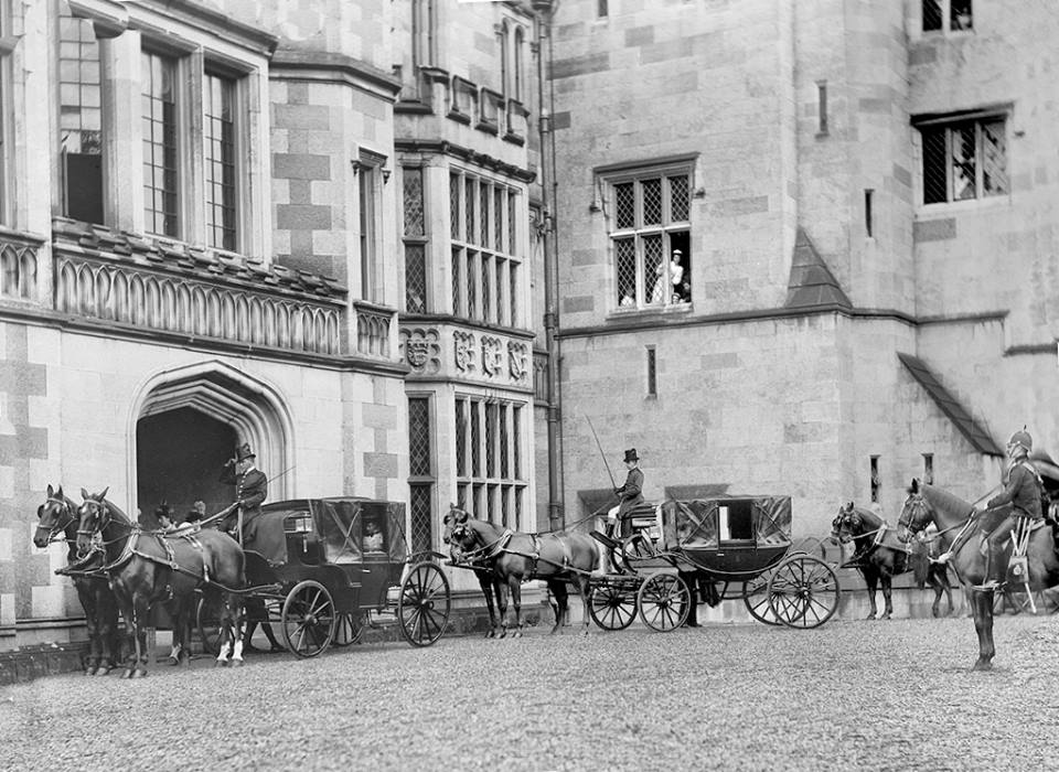 The Duke of York on a visit to Adare Castle 1897