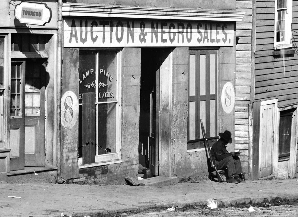02 Slave auction place, c. 1870