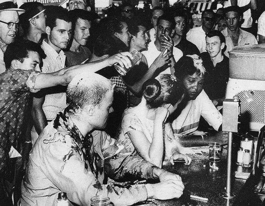 27 Couple and friend being abused in a restaurant for the latter being black, USA, 1963
