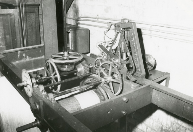 Bell or clock mechanism of the Campanile