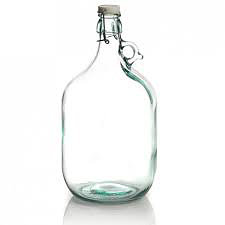 Five litre demijohn bottle