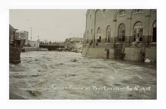 Floods in Port Elizabeth in 1908 - Baakens Valley