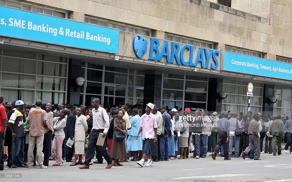 Queues outside the Banks