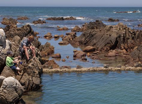 The wall of the Main Tidal Pool