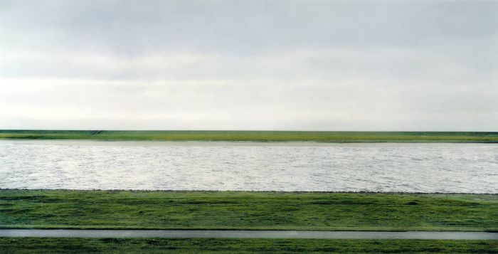 The most expensive photograph ever sold was this deceptively plain photo of the Rhein II, made by German artist Andreas Gursky and sold for 4.3 million.