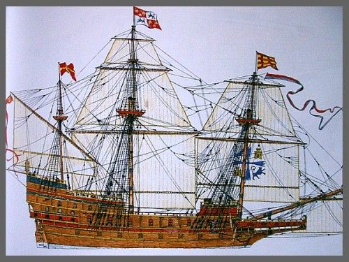 A galleon of the Spanish Armada