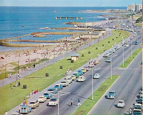 HUmewood beachfront in the 1950s