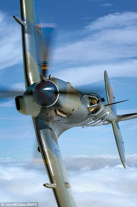 Fierce - Mk 3 Seafire PP972, the Royal Navy version of the Spitfire built for aircraft carriers and powered by a Rolls-Royce Merlin engine.