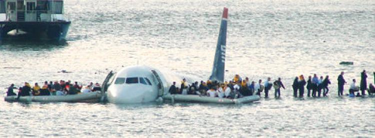 Flight 1549 crash landed in the Hudson River